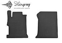 Коврики резиновые в салон Хонда Аккорд 2013- Комплект из 2-х ковриков Черный в салон. Доставка по всей Украине. Оплата при получении