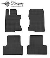 Коврики резиновые в салон Хонда Аккорд 2008-2013 Комплект из 4-х ковриков Черный в салон. Доставка по всей Украине. Оплата при получении