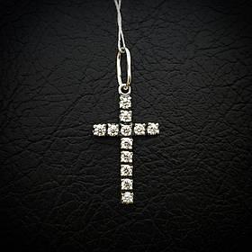 Серебряный крестик с фианитами, 1,8 грамма