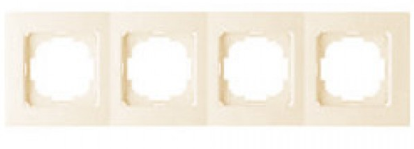 NILSON THOR Рамка четверная кремовая