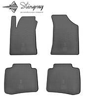 Коврики резиновые в салон КИА Серато 2004- Комплект из 4-х ковриков Черный в салон