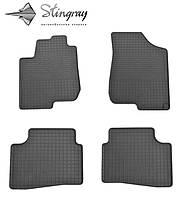 Коврики резиновые в салон КИА Серато 2009-2013 Комплект из 4-х ковриков Черный в салон