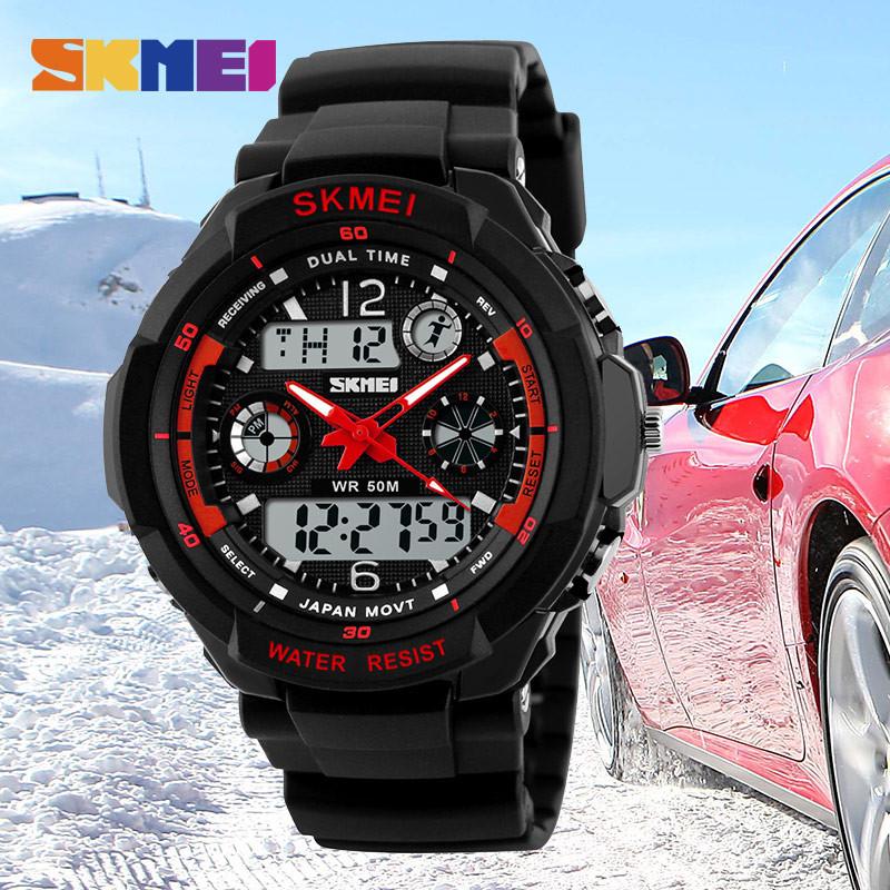 Тактические спортивные водонепроницаемые часы Skmei 0931 Красный (уценка)