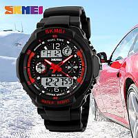 Тактические спортивные водонепроницаемые часы Skmei 0931 Красный