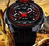 Тактические спортивные водонепроницаемые часы Skmei 0931 Красный (уценка), фото 2