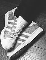 Кроссовки женские Adidas Superstar Silver/White