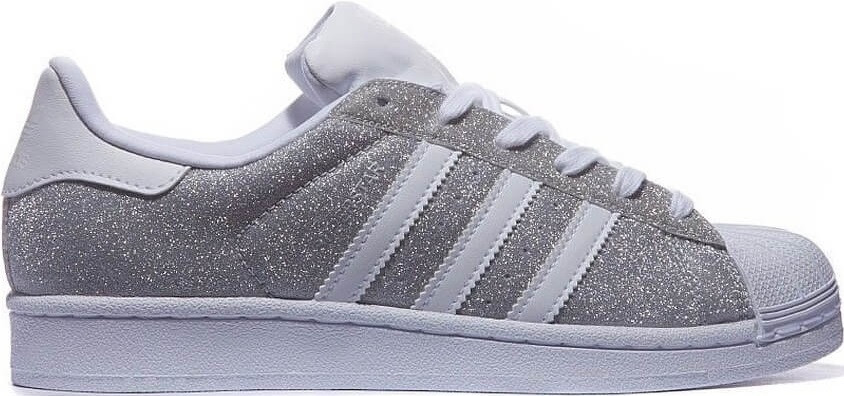 3f630ecc02cd Кроссовки женские Adidas Superstar Silver White, кожа текстиль, от ...