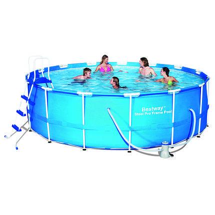 Каркасный семейный бассейн для дачи bestway 56438 457*122 см., фото 2