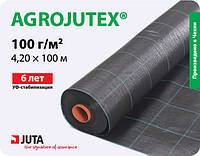 Агроткань для клубники черная Agrojutex плотностью 100г/кв.м 4,20 х 100 м