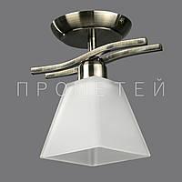 Люстра на 1 лампочку АВ (античная бронза) P3-B015/1C/AB+WT