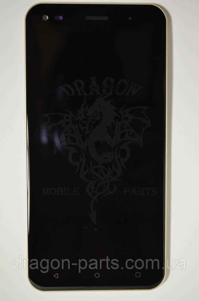Дисплей (Экран) Nomi i5530 Space X с сенсором Gold/Золотой , оригинал