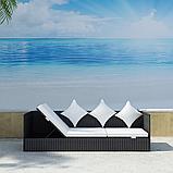 3-ри місний диван з штучного ротангу Carina, фото 2