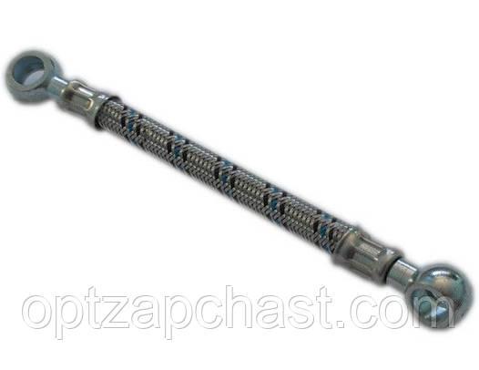 Трубка топливная низкого давления в металлооплетке  от помпы к фильтру тонкой очистки Ф14 L=0.55м (41-15с24-1)