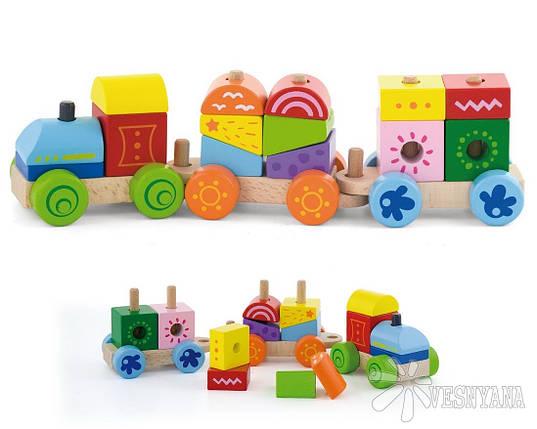 """Конструктор Viga Toys """"Поезд"""" (50534), фото 2"""