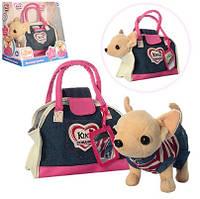 Собачка Кикки в джинсовой сумке M3218 аналог Chi Chi Love