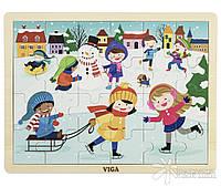 """Пазл Viga Toys """"Времена года. Зима"""" (51272)"""