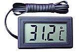 Цифровой термометр TPM-10 ( -50 до +110 С ) с выносным датчиком ( длина - 1 м ), фото 2