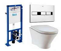 Комплект ROCA :PRO инсталяция для унитаза, PRO кнопка,NEXO подвесной Clean Rim, сиденье  slow-closing A34H64L0