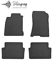 Коврики резиновые в салон Рено Лагуна III с 2007- Комплект из 4-х ковриков Черный в салон. Доставка по всей Украине. Оплата при получении