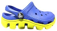Женские кроксы Crocs Duet Sport Clog синие/салатовые
