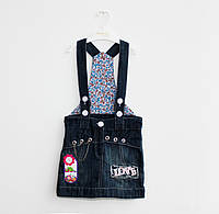 Модный джинсовый сарафан для девочки (3-5 лет)