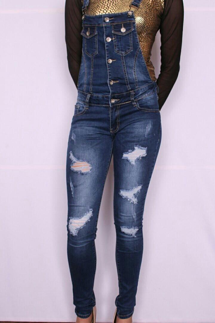 Модный женский джинсовый комбинезон Re-dress  (код RE7001)