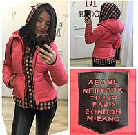 Модная женская куртка имитация рубашки