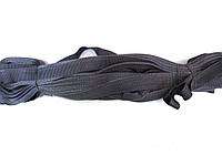 Тесьма брючная темно-серая 25м в рулоне