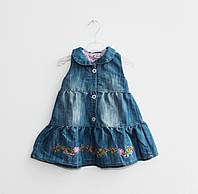 Модный джинсовый сарафан для девочки (1-3 года)
