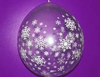 """Воздушные шарики """"Снежинки""""  для подарков 18"""" (45 см)"""