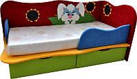 Кроватка детская для самых маленьких с ящиком для игрушек, белья, ортопедическим матрасом Кролик