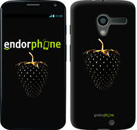 "Чехол на Motorola Moto X Черная клубника ""3585u-358"""