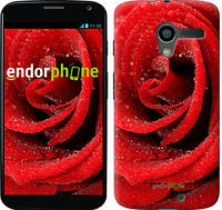"Чехол на Motorola Moto X Красная роза ""529u-358"""