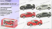Машинка инерционная KT 5340 W, модель Nissan GT-R R35, Kinsmart, металл, 12,5 см, 1:36, открываются двери