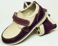 Детские туфли кожаные 27-32 на липучке, обувь детская для мальчика от производителя модель ДЖ-5012