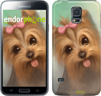 "Чехол на Samsung Galaxy S5 Duos SM G900FD Нарисованный йоркширский терьер ""928c-62"""