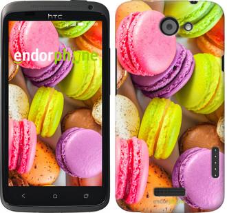 "Чехол на HTC One X Макаруны ""2995c-42"""