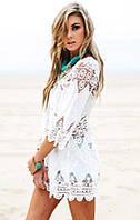 Пляжная сорочка белая