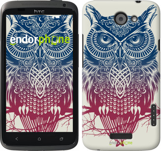 "Чехол на HTC One X Сова 2 ""2726c-42"""