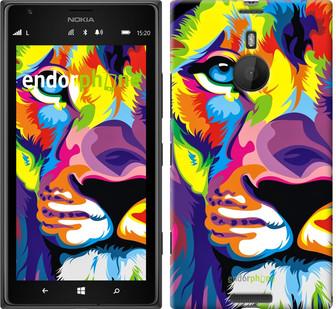 """Чехол на Nokia Lumia 1520 Разноцветный лев """"2713u-314"""""""