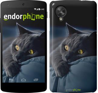 """Чехол на LG Nexus 5 Дымчатый кот """"825c-57"""""""