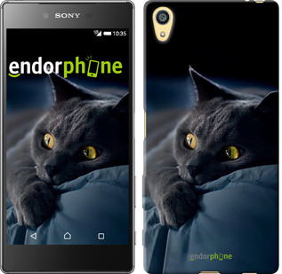 "Чехол на Sony Xperia Z5 Дымчатый кот ""825u-274"""