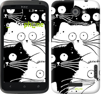 "Чехол на HTC One X Коты v2 ""3565c-42"""