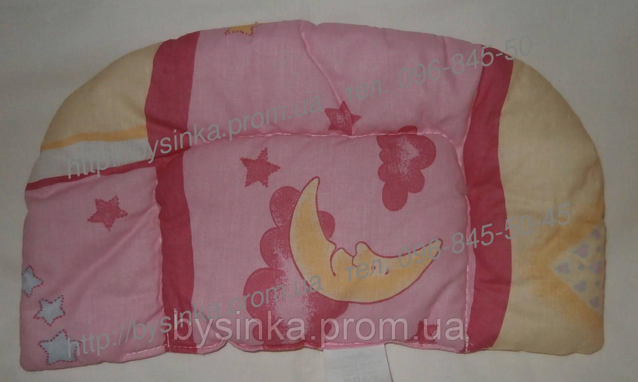 Подушка для новорожденных цветная антиалергенный холлофайбер  - 0 см ,от 0 мес.