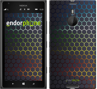 "Чехол на Nokia Lumia 1520 Переливающиеся соты ""498u-314"""