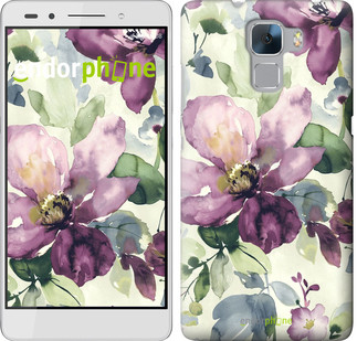 "Чехол на Huawei Honor 7 Цветы акварелью ""2237u-138"""