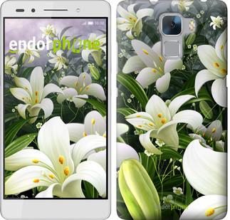 """Чехол на Huawei Honor 7 Белые лилии """"2686u-138"""""""