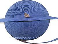 Тесьма брючная, цвет голубой 50м в рул.