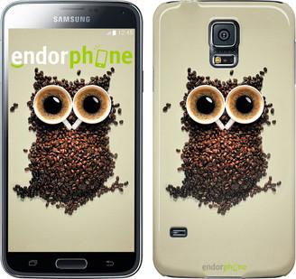 "Чехол на Samsung Galaxy S5 Duos SM G900FD Сова из кофе ""777c-62"""