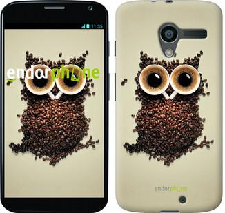 "Чехол на Motorola Moto X Сова из кофе ""777u-358"""